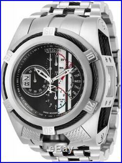 Invicta Reserve Mens Bolt Zeus Tria Racer 52MM MOP Dial Swiss SS Bracelet Watch