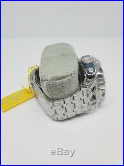 Invicta Reserve Venom Hybrid Swiss Quartz SS Blue Chrono Bracelet Watch 27787