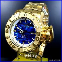 Invicta Sea Hunter Gen II Blue Abalone Diamond Auto 70mm Gold Plated Watch New