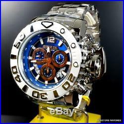 Invicta Sea Hunter Gen II Swiss High Polished Steel 70mm Blue Chrono Watch New