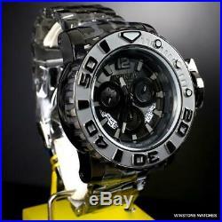 Invicta Sea Hunter Gen II Swiss Mvt Chronograph Black Stainless Steel 70mm New