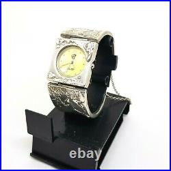 Israel Sterling Silver 925 Women's Band Watch Modernist Handcrafted