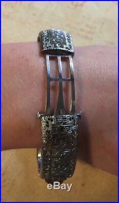 JEWELRY HOARDER Vintage Victorian Edwardian Art Deco Filigree BraceletGorgeous