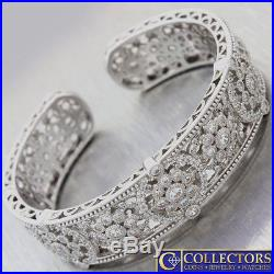 Judith Ripka Art Deco Sterling Silver CZ Bracelet G8
