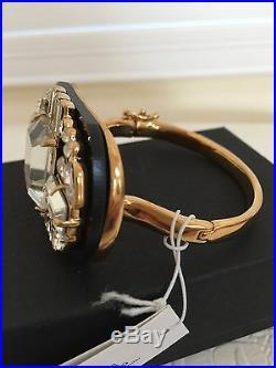 KATE SPADE Bracelet Bangle New York ART DECO Imperial Tile Gold Tone Crystal NEW