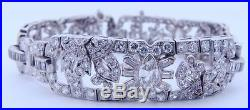 Ladies ART DECO Platinum Diamond Bracelet 8.5 Carats