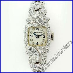 Ladies' Antique Art Deco Platinum 2.24ctw Diamond 17j Swiss Movement Wrist Watch