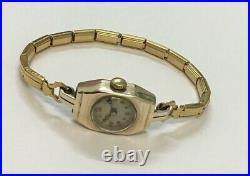 Ladies Vintage 1936 Cartier Solid 9ct Gold Art Deco Cocktail Watch