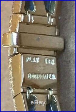 MICHAEL BONDANZA PLATINUM & 18k Gold Diamond Bracelet