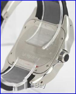 MINT Men's Cartier Santos 100 XL 38mm Stainless Steel Rubber Watch 2656 W20121U2