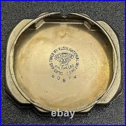 MUSEUM GRADE 1936 ELGIN GR. 487 17j Art Deco 10Kgf Wristwatch U. S. A. In BOX