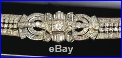 Magnificent French Art Deco Platinum Diamond Bracelet Must See