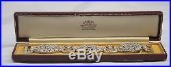 Magnificent Original 1930's Art Deco French Platinum Diamond Bracelet Signed