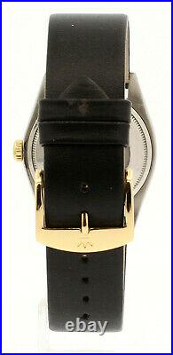 Mens ROLEX Oyster Perpetual Date 34mm Gold Dial Stainless & Gold Watch
