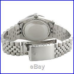 Mens Rolex 36mm DateJust Diamond Watch Jubilee Steel Band Custom Green Dial 2 CT