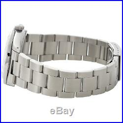 Mens Rolex 36mm DateJust Diamond Watch Oyster Steel Band Red Roman Dial 1.9 CT