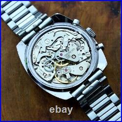 Mens Stainless Zodiac Chronograph 17J Valjoux 7734 Cal. 84
