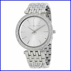 Michael Kors Ladies Watch Mk3190 Silver Darci Bnib Warranty New Original