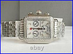 Michele'' Deco 0.66 ct Diamond Chronograph Watch New With Tags Box Papers Card