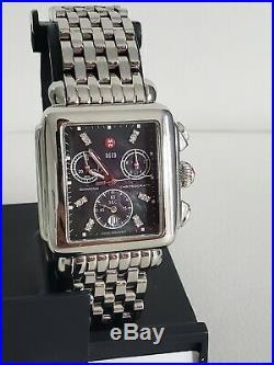 Michele Deco 12 Diamonds Chronograph Luxury Women's Watch Swiss 71-6000. 23jwls