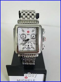Michele Deco 12 Diamonds Chronograph Luxury Women's Watch Swiss Made Mw06a01