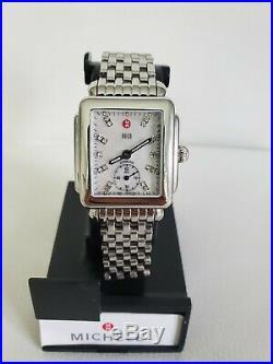 Michele Deco 16 Diamonds Luxury Women's Watch Swiss Made Mw06v00c9046 / 0.08ctw