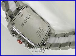 Michele Deco Carousel Chronograph Ladies Stainless Steel & Ceramic Watch
