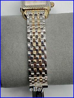 Michele Deco Madison Mid Two-Tone Diamond Women's Watch MW06G01C5018