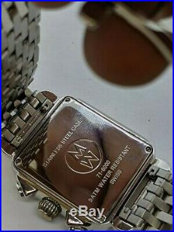 Michele Diamond Deco 71-6000 Chronograph Stainless Steel Quartz Watch 33mm
