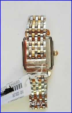 Michele New Art Deco Diamond Two-tone Watch. 63tcw Mww06v000103 Rare Nib $2895
