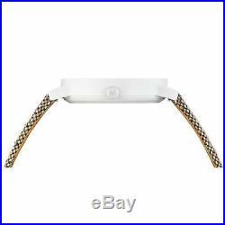 Mondaine Essence Quartz White Dial Brown Textile Strap Watch MS1.41110. LG