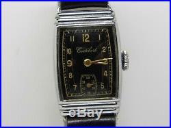 Montre bracelet art déco CORTEBERT Mouvement mécanique cal 634 vintage watch