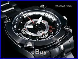 NEW 50MM Invicta Reserve Men's Swiss Quartz Chronograph All Black Bracelet Watch