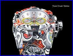 NEW Invicta 52mm Bolt Zeus Quartz Chrono Graffiti Silver Dial HYDROPLATED Watch