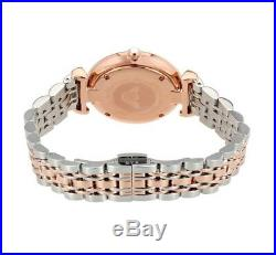 New Emporio Armani Ar1840 Gianni Gold T-bar Two Tone Bracelet Ladies Watch