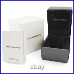 New Genuine Emporio Armani Ar1683 Rose Gold Silver White Dial Ladies Watch Uk