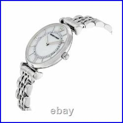 New Genuine Emporio Armani Ar1908 Classic Mother Of Perl Dial Womens Watch