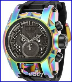 New Invicta Reserve 52mm Bolt Zeus MAGNUM Swiss Chronograph Dual Time SS Watch