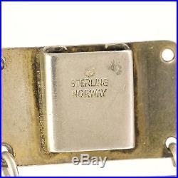 Norwegian Art Deco Silver Enamel Bracelet IVAR T HOLTH Rare