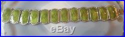 Norwegian Art Deco Silver & Green Guilloche Enamel Bracelet IVAR T HOLTH