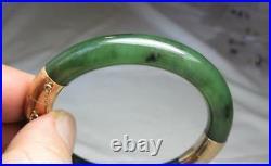 Opal Diamond Clover Bracelet 14K Gold Flower Bangle Art Deco Opals Antique