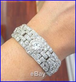 Original Platinum & Diamond Art Deco Bracelet 25.00 Cts