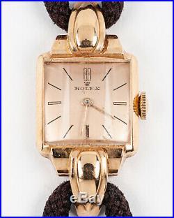 Original Rolex Ladies 18k Dress Watch Ref. 4211 with Original Cord Band & 17j Mvt