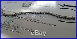 PLATINUM (31.7 gr.) & 10cts. SAPPHIRE ART DECO STYLE BRACELET APPRAISED $7550.00