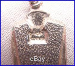 Pat Cheney Art Deco Style Sterling Silver & Enamel Bracelet