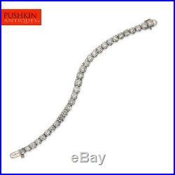 Platinum & 18ct Diamond Bracelet, G/h, Vvs1