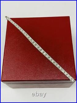 Platinum Art Deco European Cut Diamond Bracelet