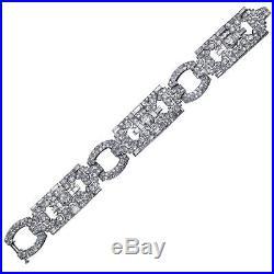 Platinum Cartier French Art Deco Diamond Bracelet