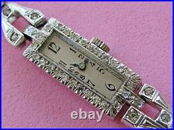 Platinum Diamond Art-deco Ladies Watch