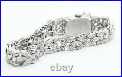 Platinum Vintage Art Deco Ladies Wrist Watch With Diamonds 7.25
